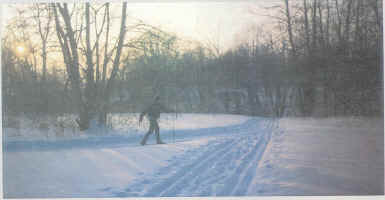 Cross-county skiing at Runestone Park