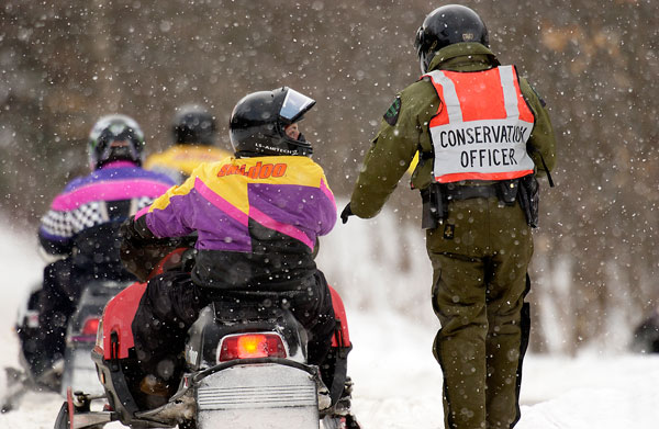 snowmobile Conservation Officer